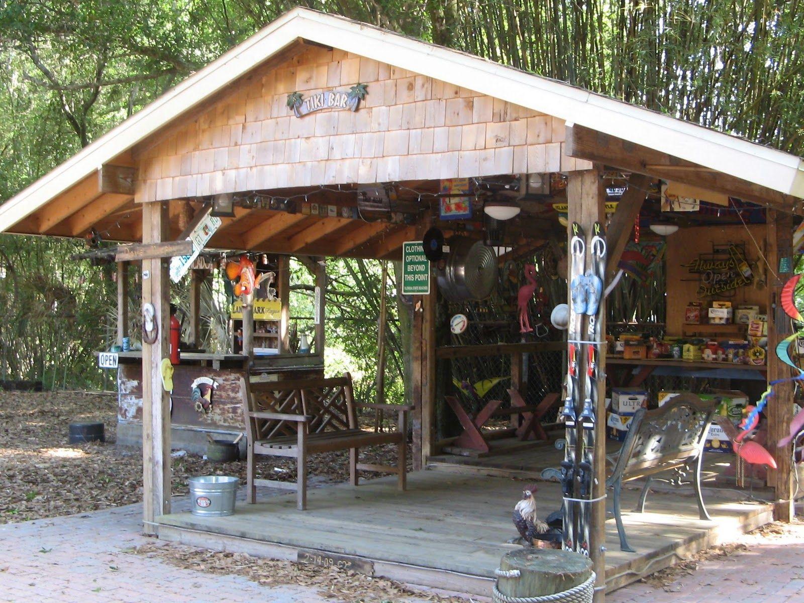 "Step into ""The Yard"" | Backyard, Tiki hut, Diy outdoor bar on Backyard Tiki Hut Designs id=13387"