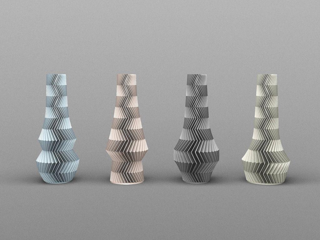 ZIG ZAG VASES by Zampik. | 3D print | Pinterest | Zig zag