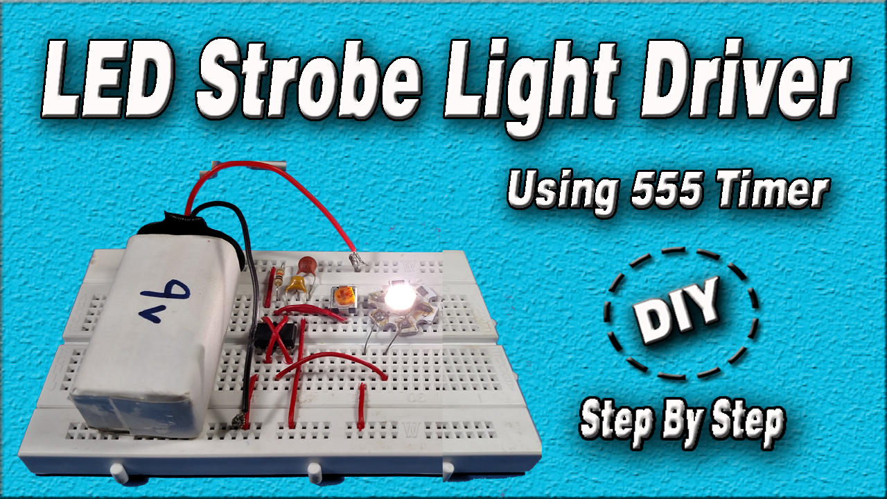 Led Strobe Light Circuit Using 555 Timer Diy How To Homemade 555pwmcircuitsetuppng Step By