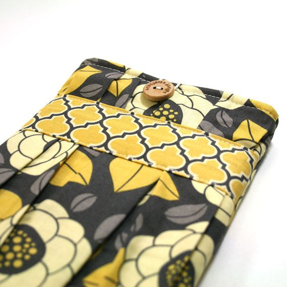 Kindle Fire Slip Cover  Button and Loop by krissyannedesigns, $25.00
