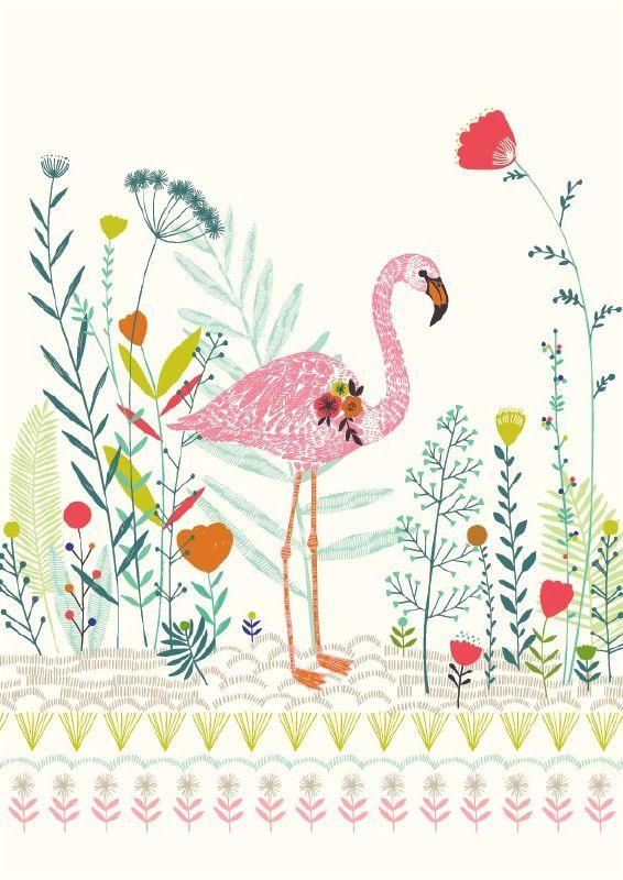 Bethan Janine 'Kaart Flamingo'