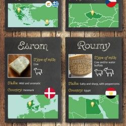 This data viz explores some weird and wonderful cheeses found in 29 countries across the world.