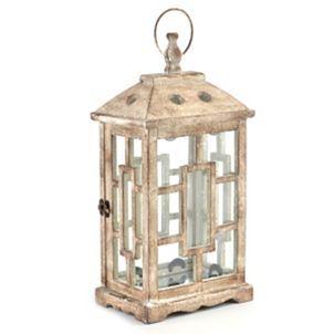 Antiqued White Lantern | White lanterns, Kirkland home ... on Lanterns At Kirklands id=58326
