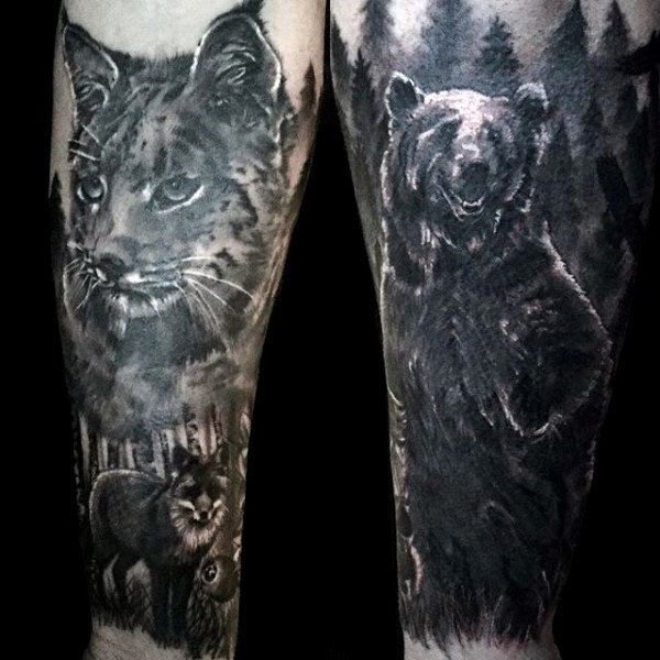 Top 101 Forest Tattoo Ideas 2020 Inspiration Guide Forest Tattoos Tattoo Designs Men Forest Forearm Tattoo