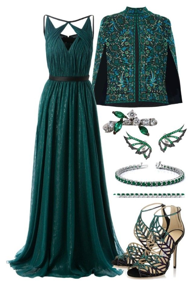 Slytherin Yule Ball #4 by alicepardus on Polyvore featuring polyvore, fashion, style, Jason Wu, Talitha, Jimmy Choo, FerrariFirenze, Stephen Webster and clothing