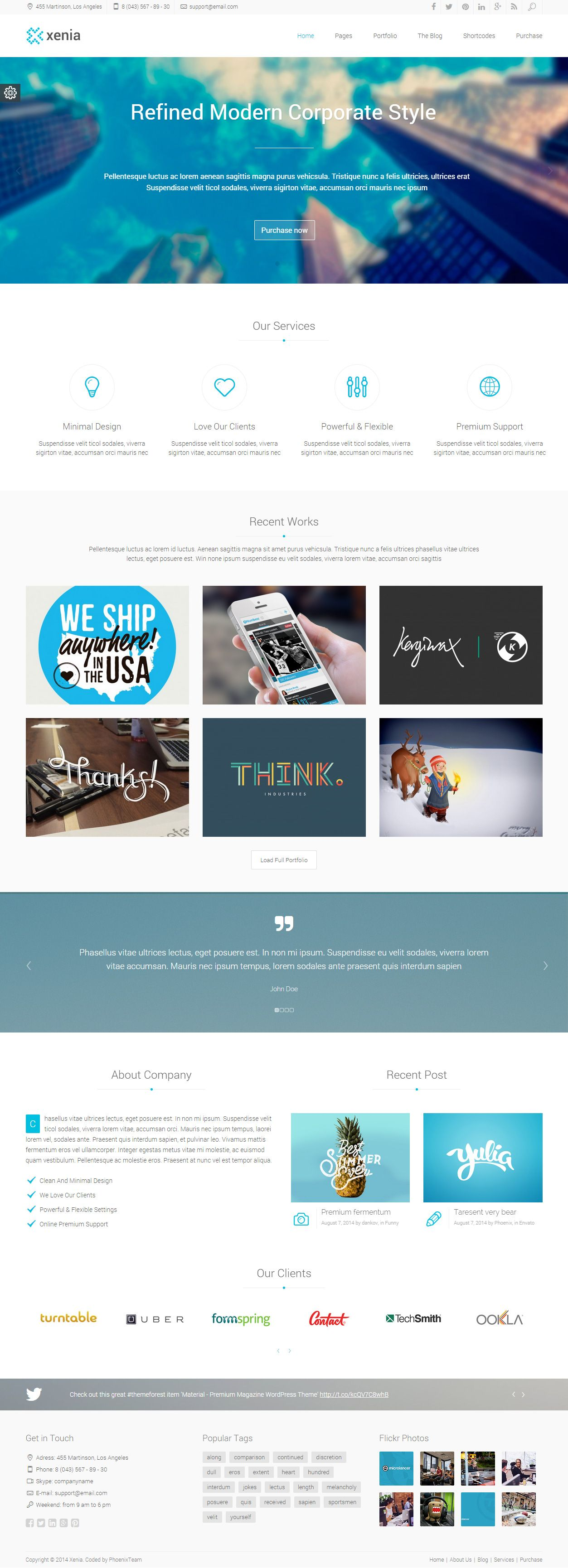 Xenia is Premium full Responsive WordPress Corporate Theme ...