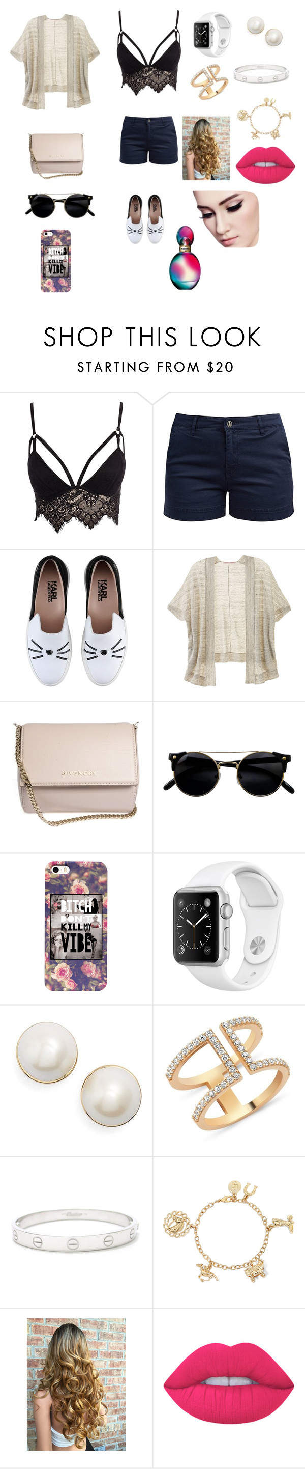 """❤️"" by keilydelgado on Polyvore featuring Club L, Barbour, Karl Lagerfeld, Victoria's Secret, Givenchy, Kate Spade, Amorium, Cartier, Lime Crime and Missoni"
