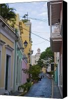 A Street In Colorful Old San Juan Photograph by Taylor S. Kennedy - A Street In Colorful Old San Juan Fine Art Prints and Posters for Sale