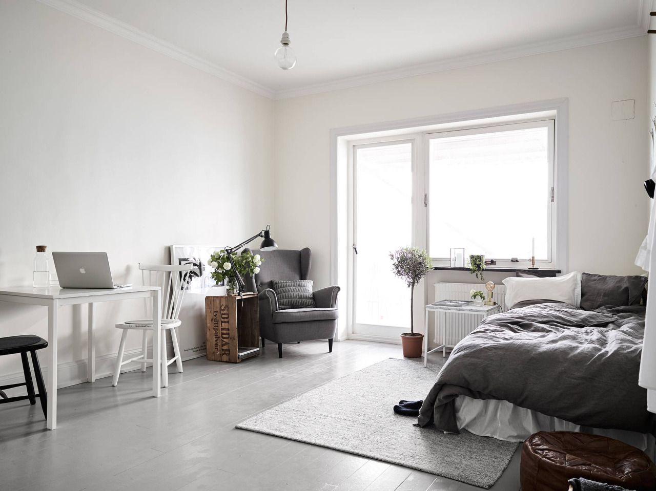 Small studio apartment via Stadshem gravityhomeblog.com - instagram - pinterest - bloglovin