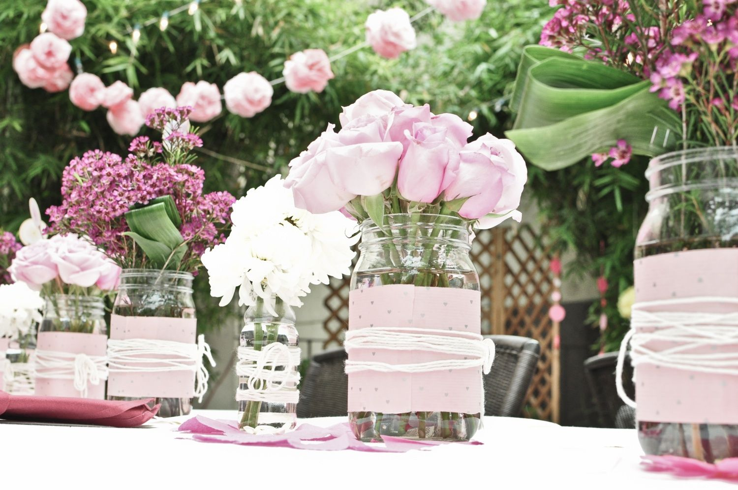 Diy wedding table decorations ideas  garden table decoration ideas  Google Search  SpringSummer