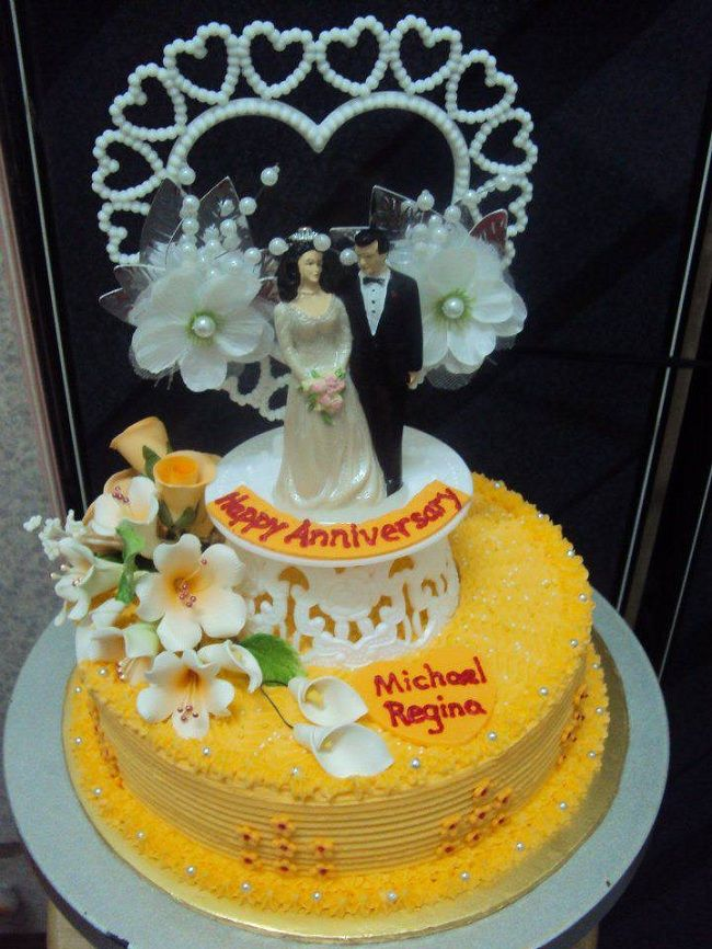 Yellow With White Orange Blossoms Appropriate To 1st Anniversary