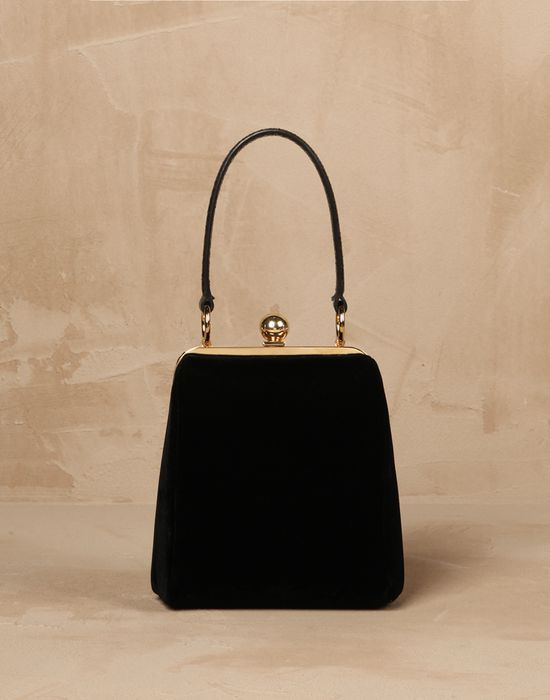 cf25cf9983 SMALL VELVET AGATA BAG - Small fabric bags - Dolce Gabbana - Winter 2016