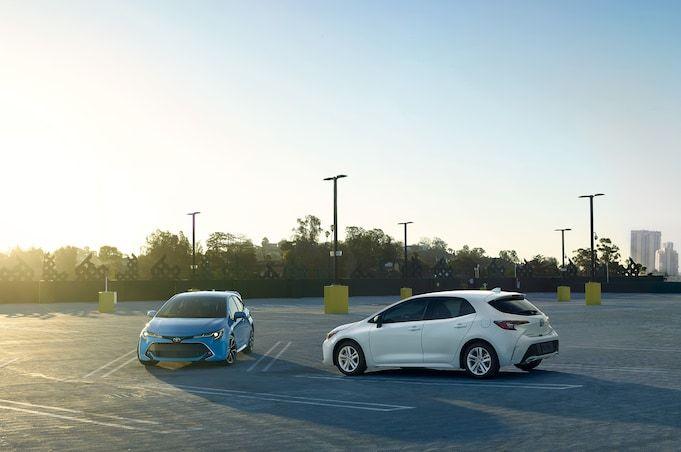 2019 Toyota Corolla Hatchback Hatches Outside Of Javits Center