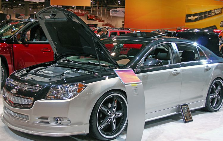 Godfather Customs Designs 2009 Chevy Malibu For Gm Booth At Sema