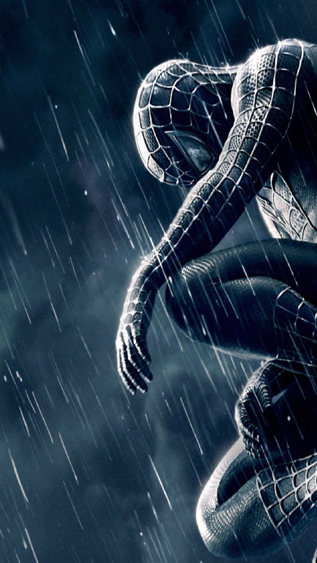 Spiderman 3 Black And Blue Mobile Hd Wallpaper Vactual Papers Laba Laba Mengagumkan Wallpaper Ponsel