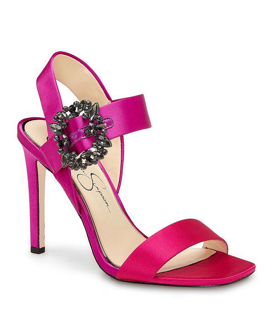 7233f74a735a Passion Pink Jessica Simpson Bindy Jeweled Buckle Dress Sandals