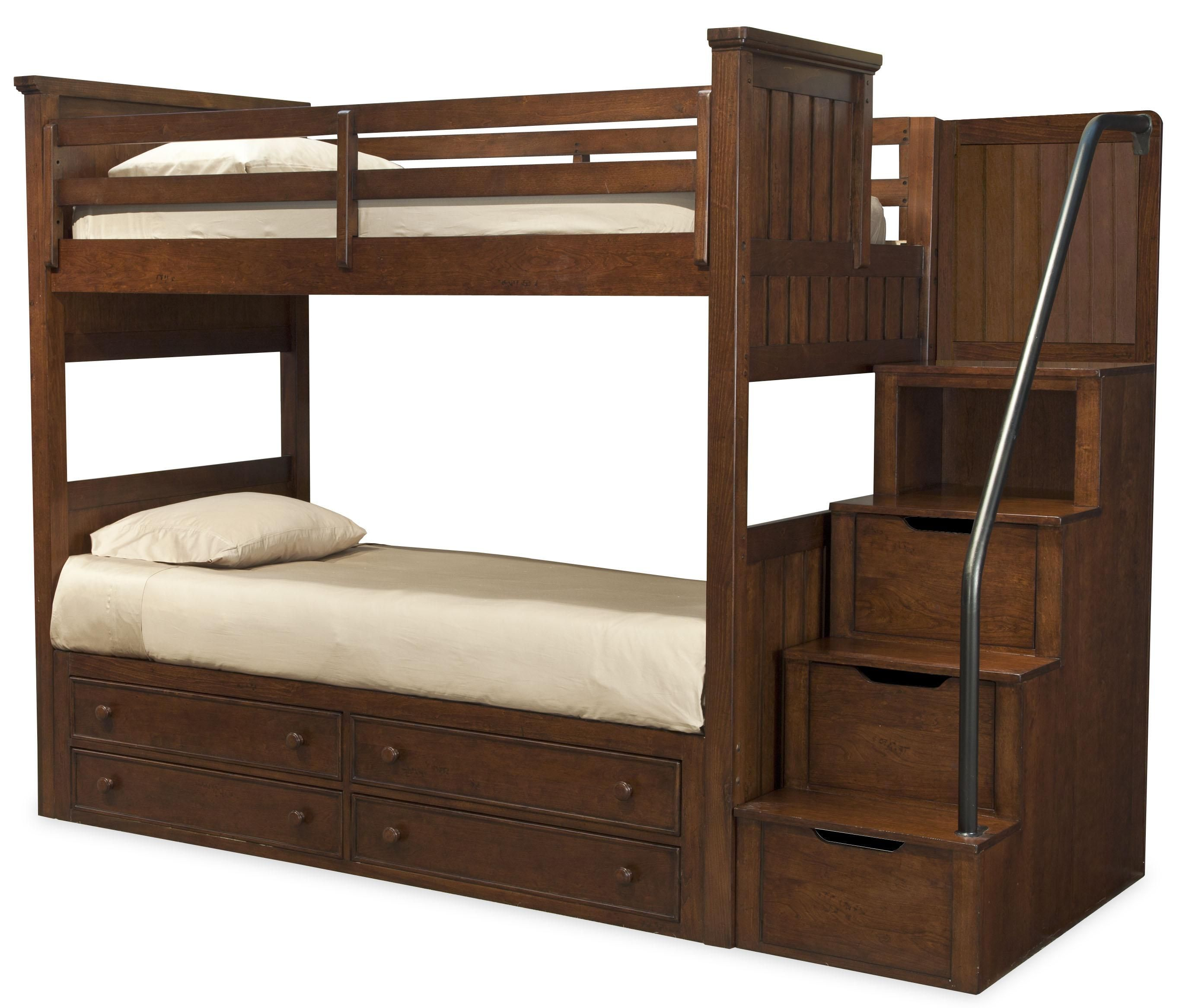 Twin Over Twin Bunk W Storage Stair Bunk Beds With Stairs Bunk