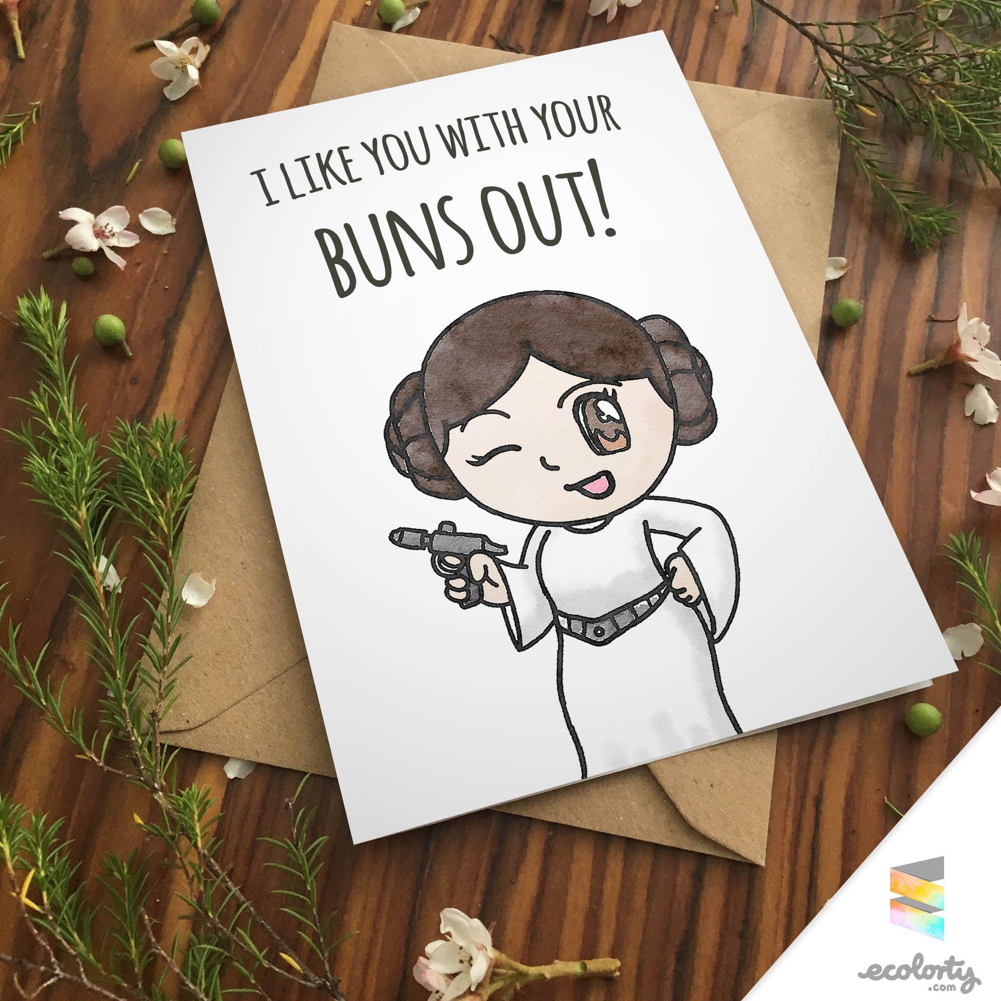 Big buns princess leia greeting card greeting card for