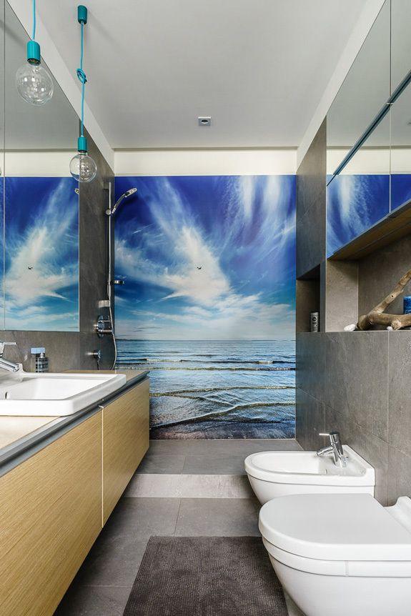 Fototapeta Pod Prysznicem Ocean łazienki House Bathroom I Home