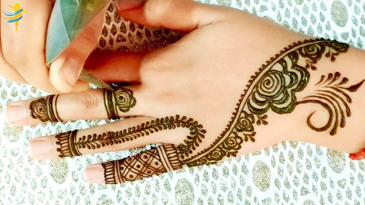 Modern And Youthful Henna Mehndi Design نقش حناء شبابي و عصري Mehndi Designs Simple Mehndi Designs Mehndi Simple