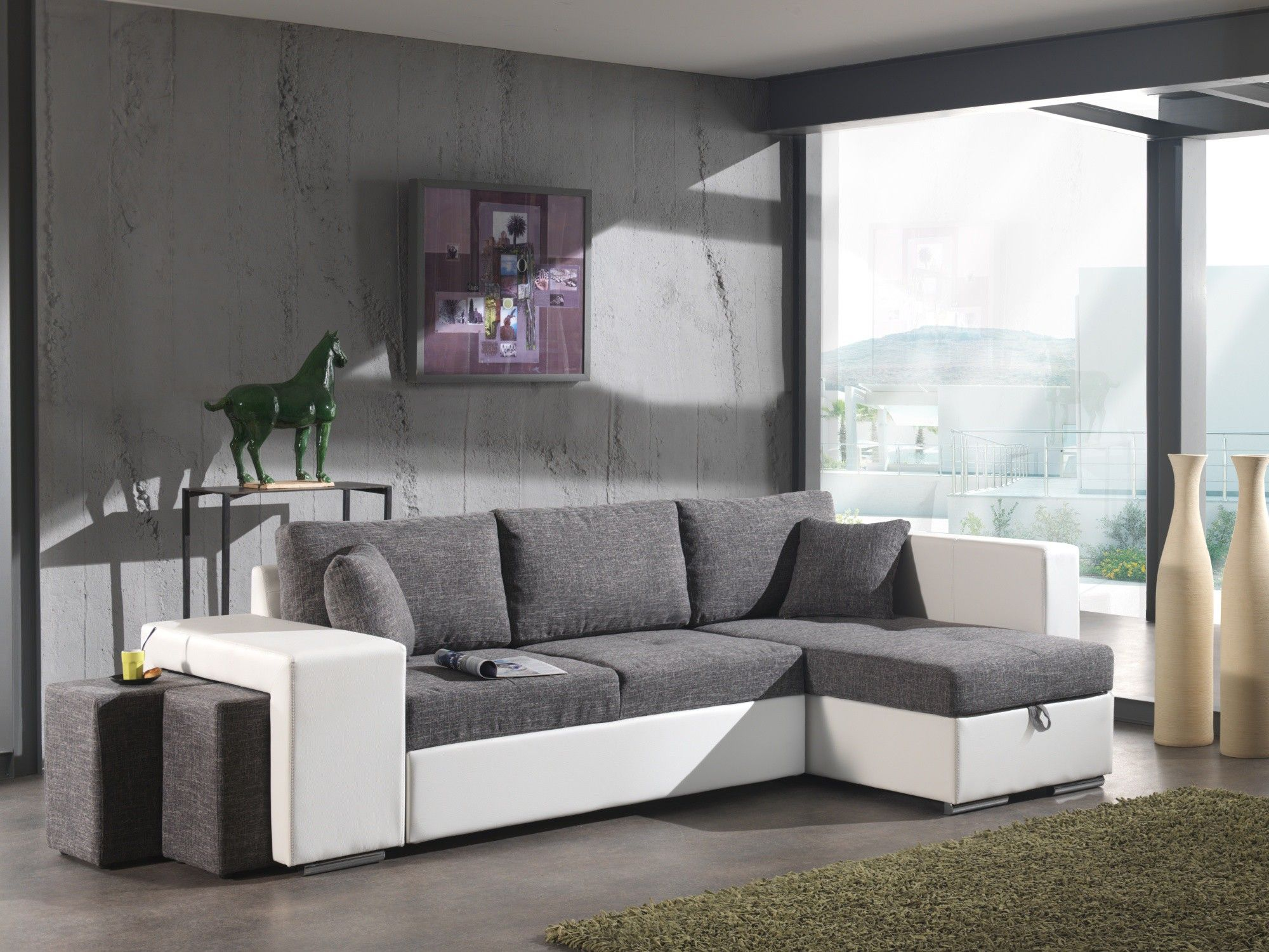 canape gris moderne cool canaps pas cher tissu moderne gris et marron mango petit prix with. Black Bedroom Furniture Sets. Home Design Ideas