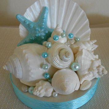Beach Wedding Cake Topper Starfish And Shells Decor