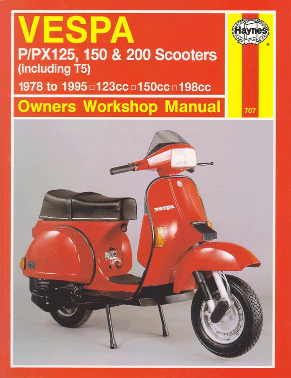 vespa p px 125 150 200 scooters repair manual 1978 2003 vespa rh pinterest com Chinese Scooter Repair Manual motor scooter repair manuals