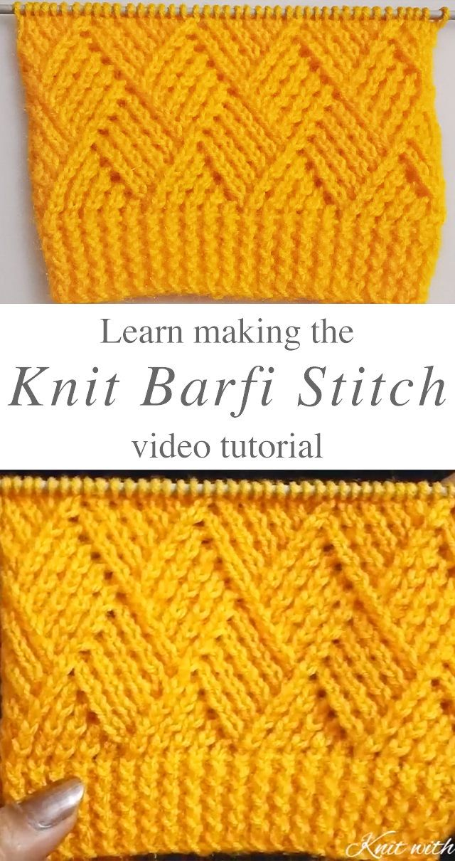 Knit Barfi Stitch You Should Learn | CrochetBeja