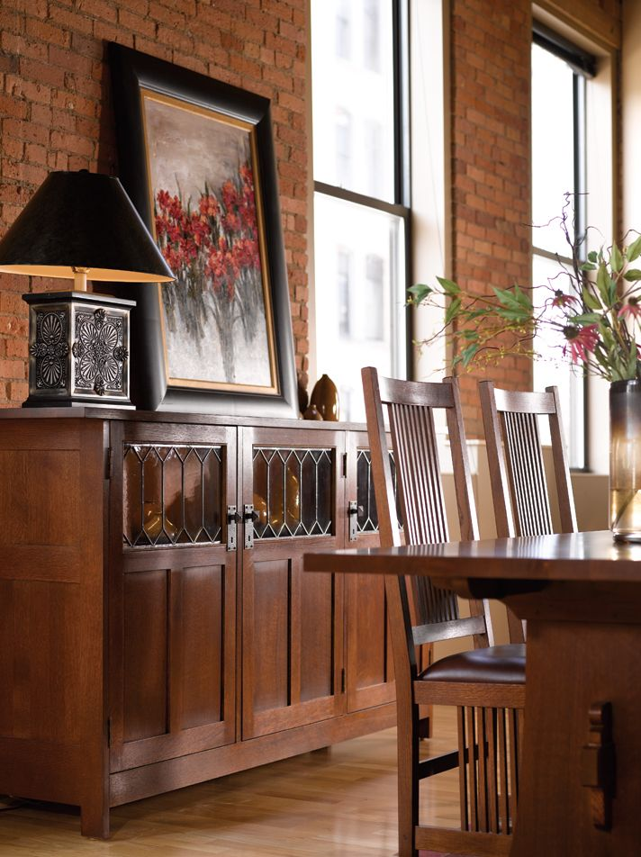 Stickley Dining Room Furniture: Love This 3 Door Display Buffet By Stickley #interior