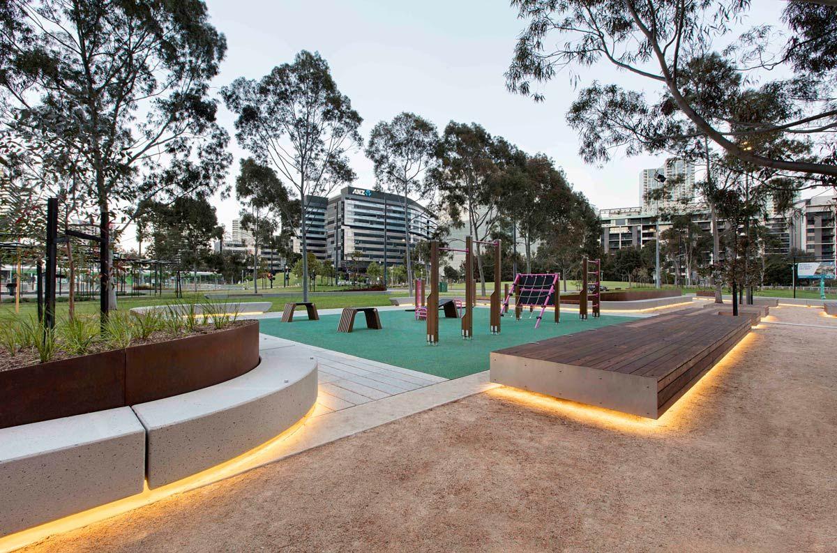 Clec Site Docklands Park Stage 2 By Mala Studio Landscape Architecture Works Landezine Landshaftnaya Arhitektura Obshestvennye Mesta Urban