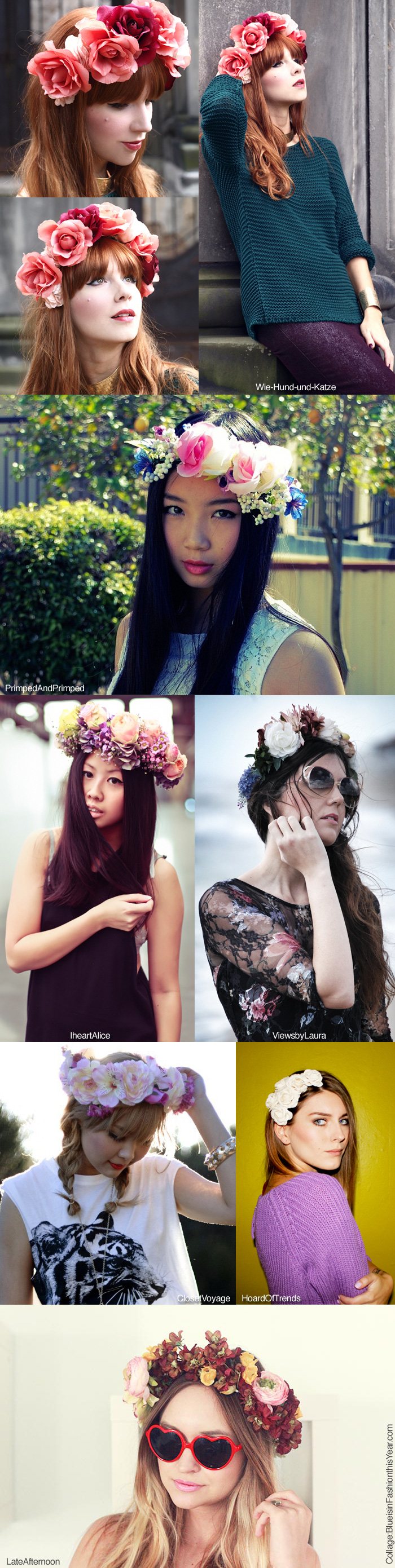 Blue is in Fashion this Year: DIY: Flower Crowns