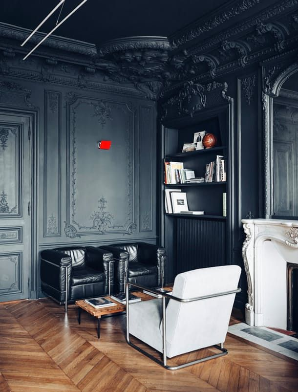 Inspirations For Painting Your Moldings And Wall Black Apartment Therapy