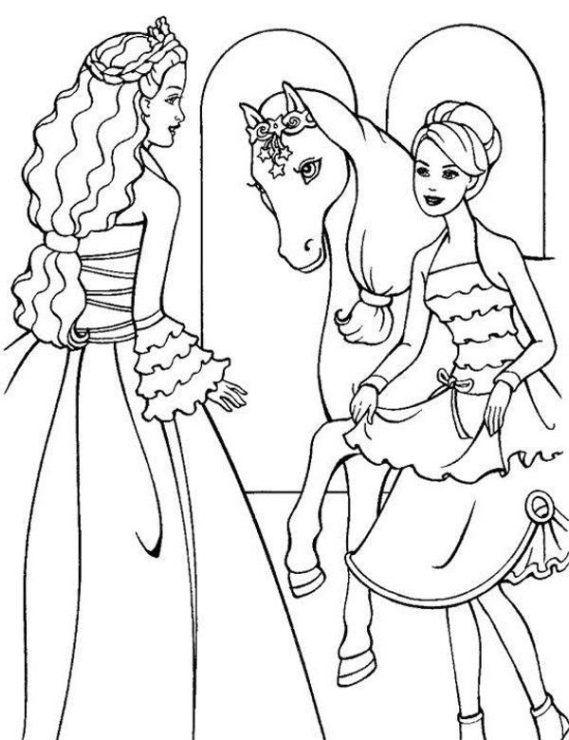 Barbie Kolorowanka 4 Darmowe Kolorowanki Kolorowanki Kolorowanka