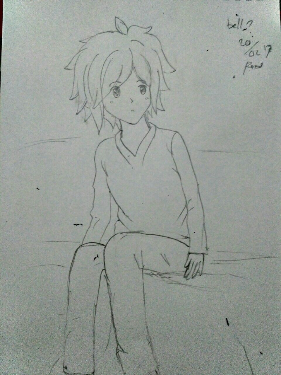 Iseng iseng gambar bell sketsa anime leveon bell belle