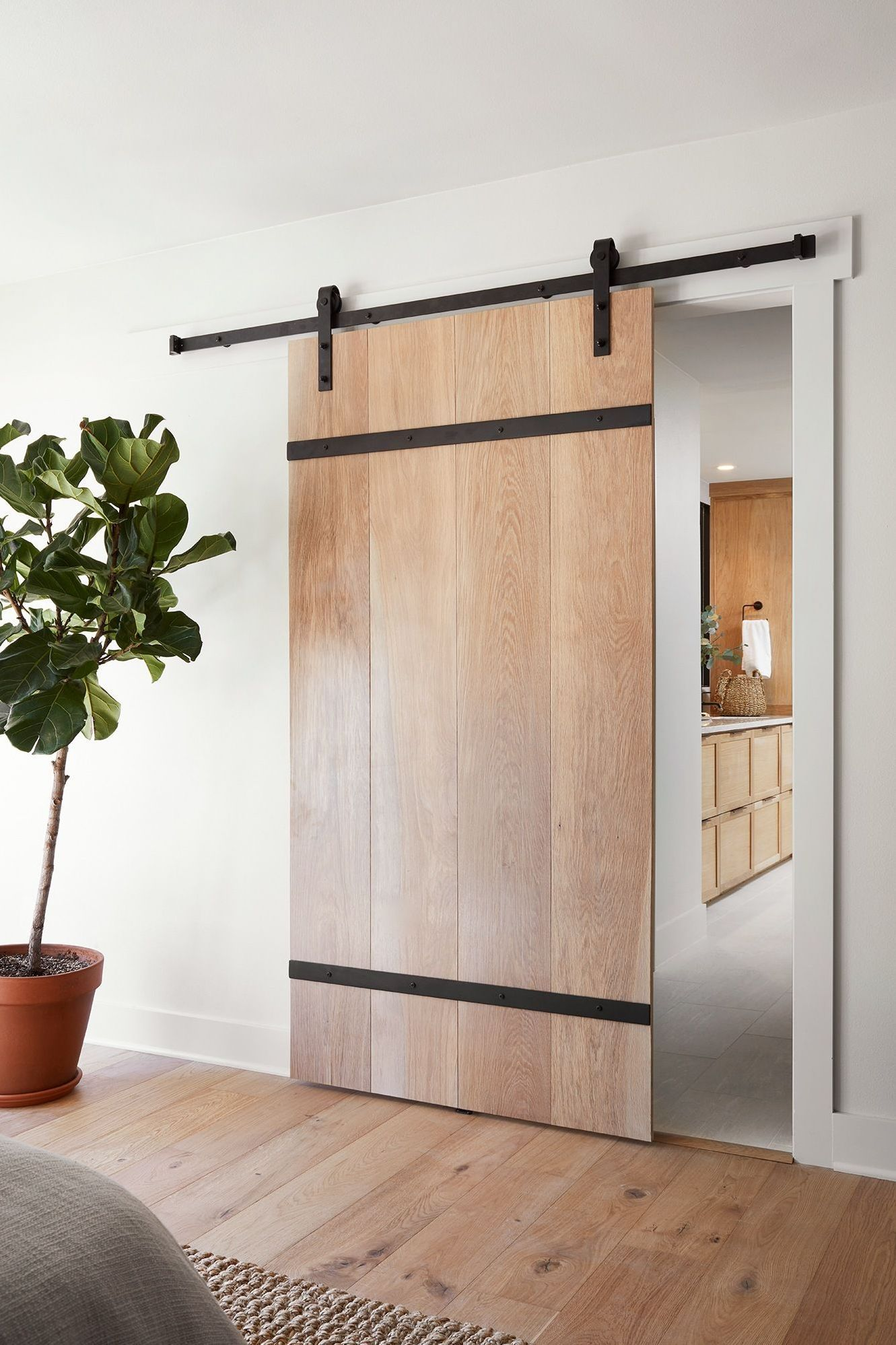 16 Stunning Modern Front Door Designs Ideas In 2020 Modern Barn Door Barn Door Designs Modern Sliding Doors