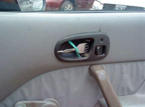 Diy car repair interior door handle hilarious or genius lol more hilarious do it yourself car repairs beliefnet solutioingenieria Gallery
