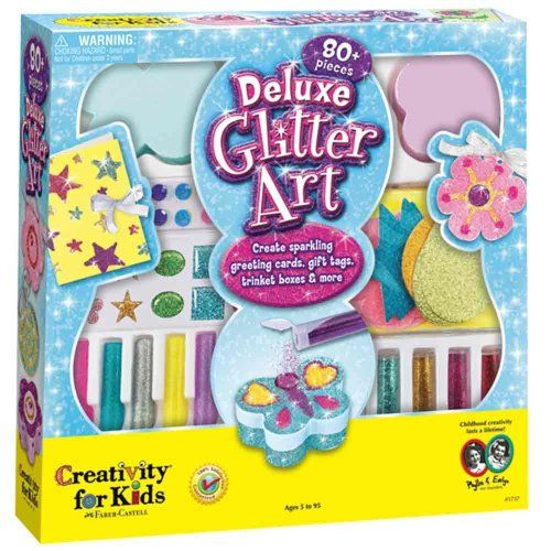 Girls DELUXE Glitter Art Set Kits - Arts and Craft Set for your girl - 80 Pieces of Glittery Fun! - #ArtsAndCrafts