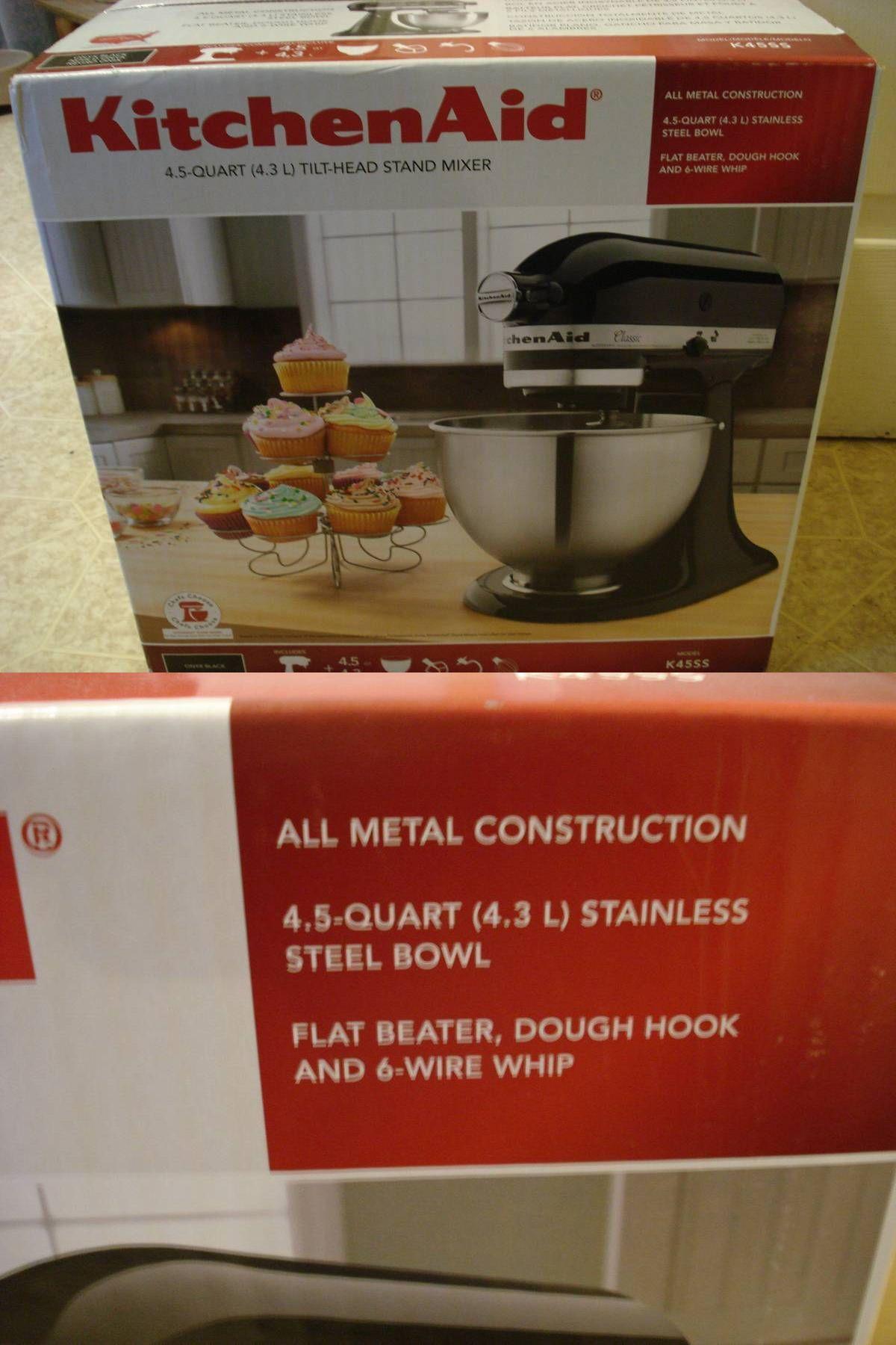 Countertop mixers 133701 kitchenaid k45ss onyx black