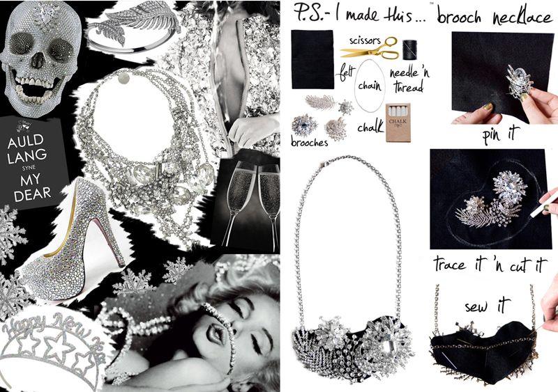 Shine Trim: Featured DIY: Brooch Necklace