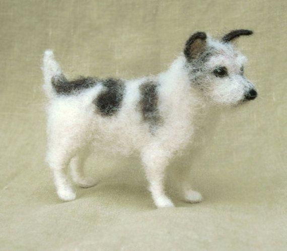 Ähnliche Artikel wie Nadel gefilzt Jack Russell Terrier, Miniatur-Hund, benutzerdefinierte Porträt Denkmal, 11-12-Monats-Turnaround-Zeit auf Etsy #needlefelting