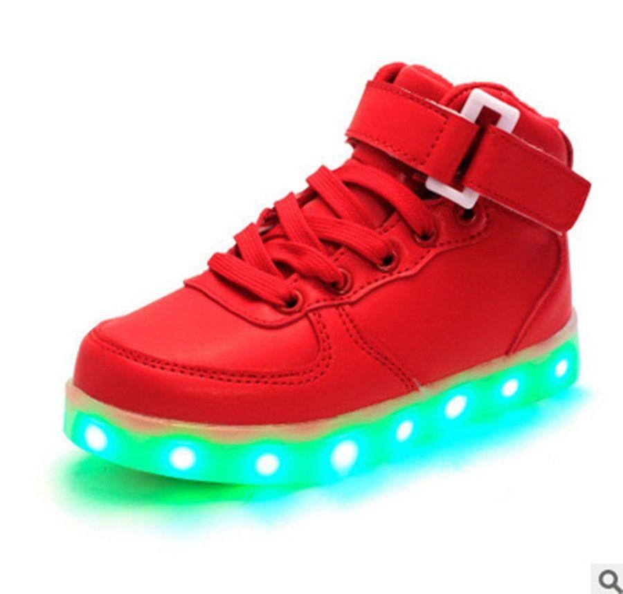 Big Size 5-10.5 USB LED Light Shoes Men