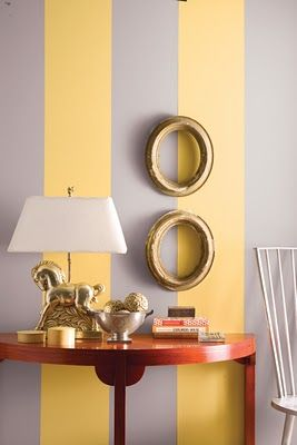 Forever Peaches Grey Accent Wall Yellow Accent Walls Striped Accent Walls