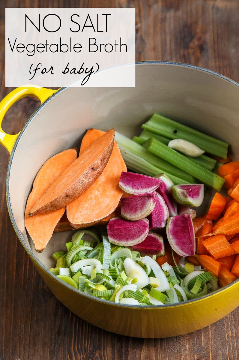 Homemade vegetable broth for baby food puree | Baby food ...