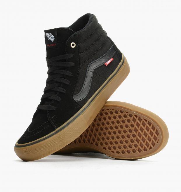 vans skate hi black gum