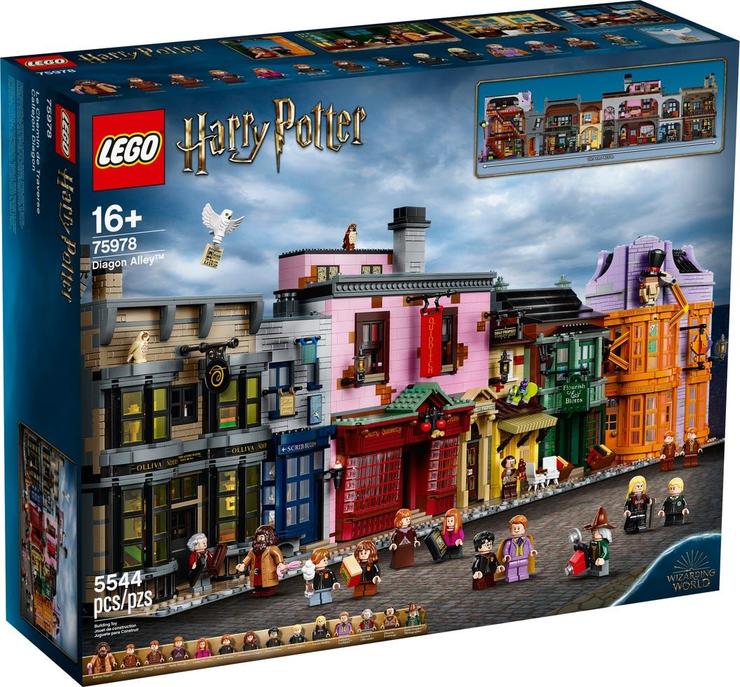 Diagon Alley 75978 Harry Potter Buy Online At The Official Lego Shop Ca Harry Potter Diagon Alley Lego Harry Potter Harry Potter Lego Sets