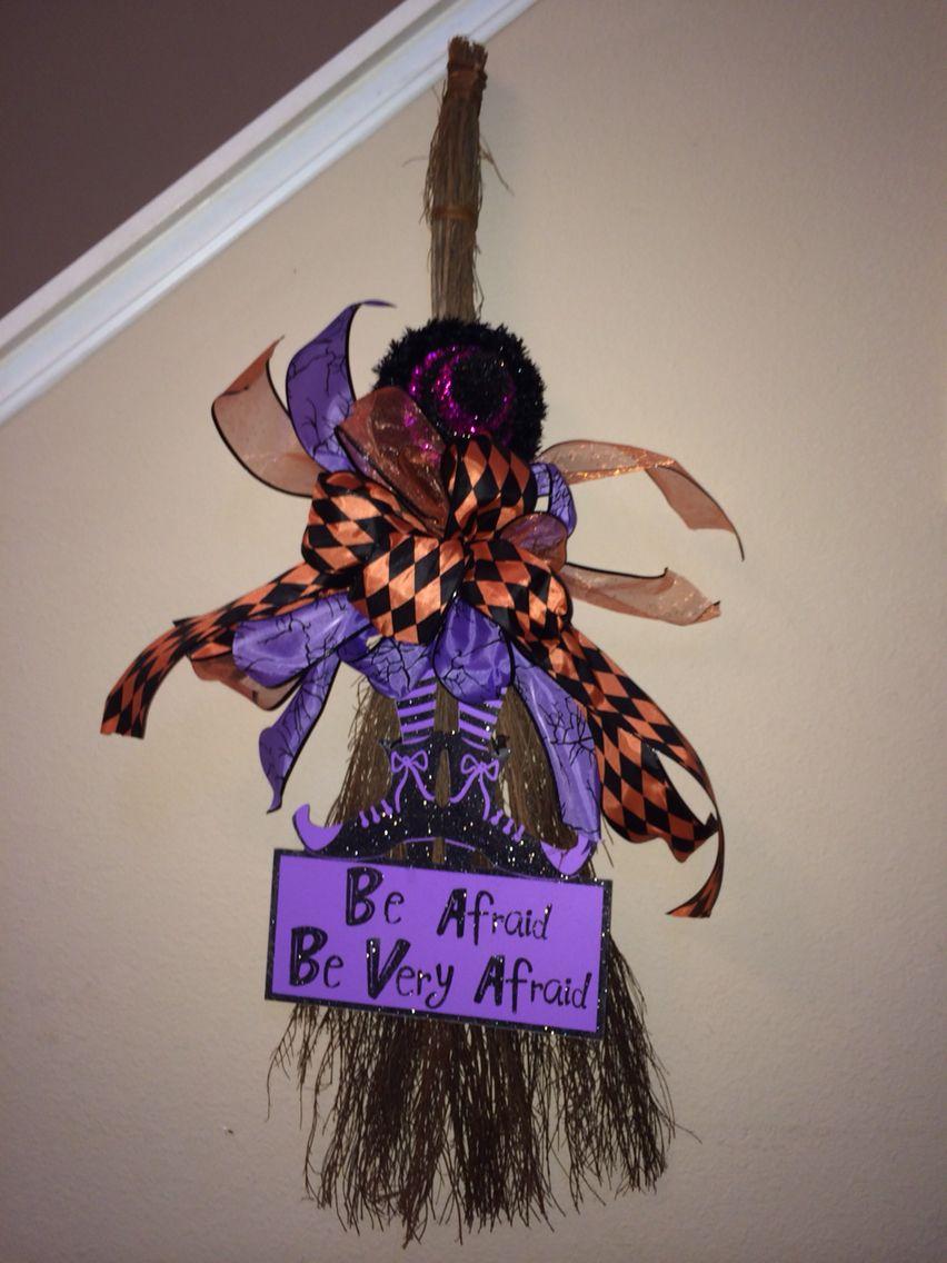 Halloween Witch Broom Craft Cute Decoration Diy Wiring Money Publix Cinnamon