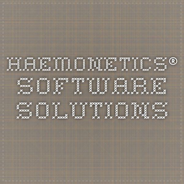HAEMONETICS® Software Solutions