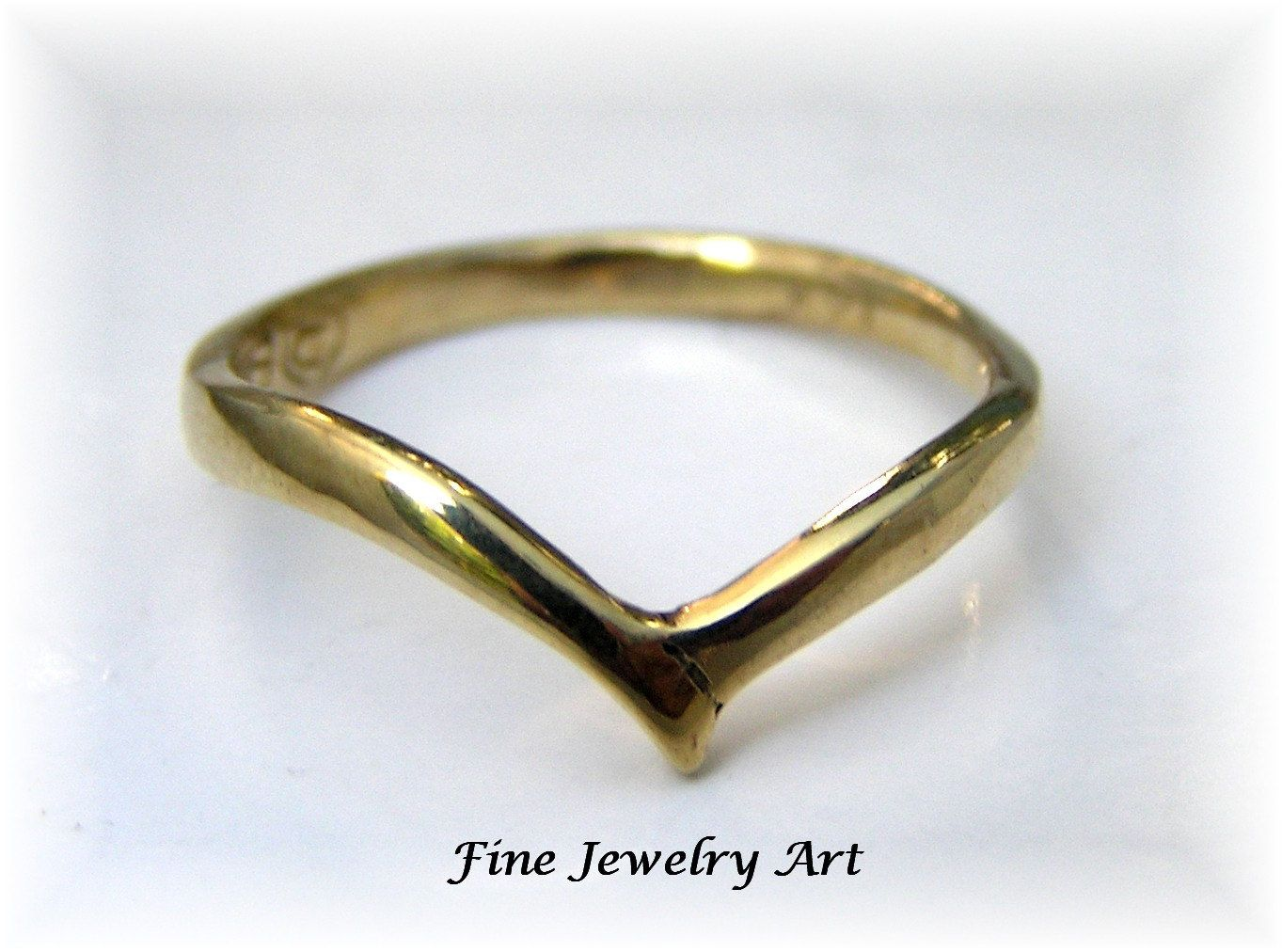 SALE - Handmade Simple Thin Gold Ring Bird Wings Design. $118.00 ...