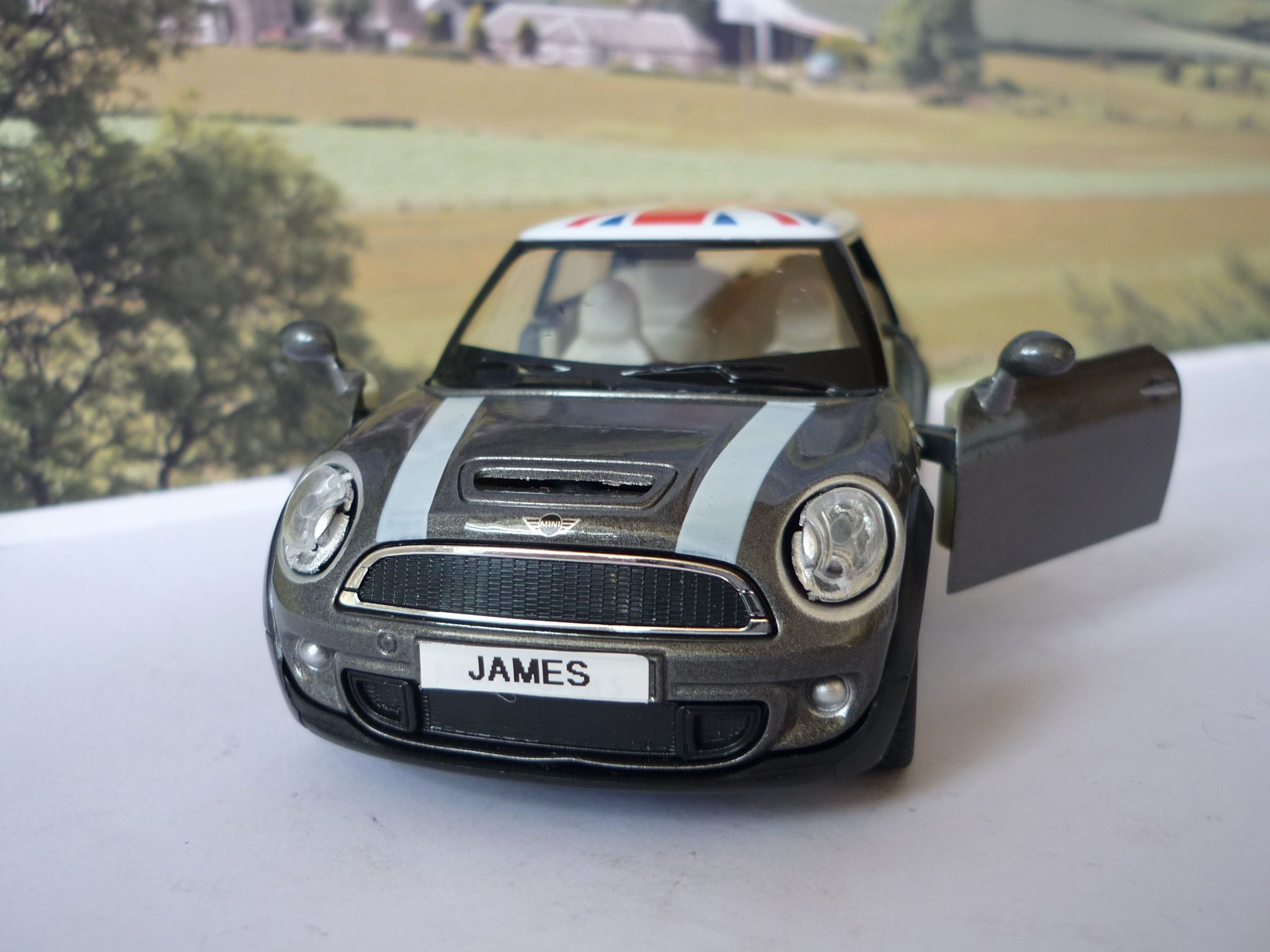 Design car number plates india - Grey Bmw Mini Cooper Toy Car Personalised Number Plates Ideal Gift