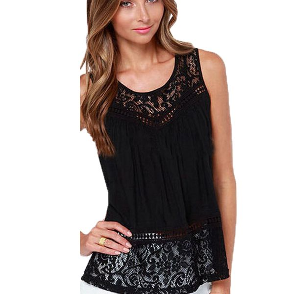 Find More Tank Tops Information about S 4XL Europe and United States 2015 new summer fashion women crochet lace vest o neck sleeveless shirts tank tops HQ1150,High Quality Tank Tops from Outlets (Retail&Wholesale) on Aliexpress.com